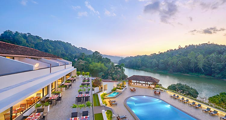 Aerial View of Luxury Hotel in Kandy