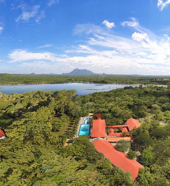 Aerial View of Luxury Resort in Habarana