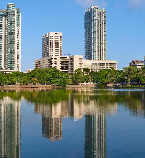 View of Luxury Colombo Hotel from Lake