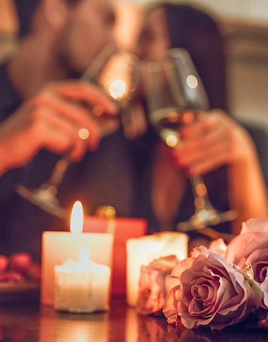 Couple enjoying Wine at Private Dinner