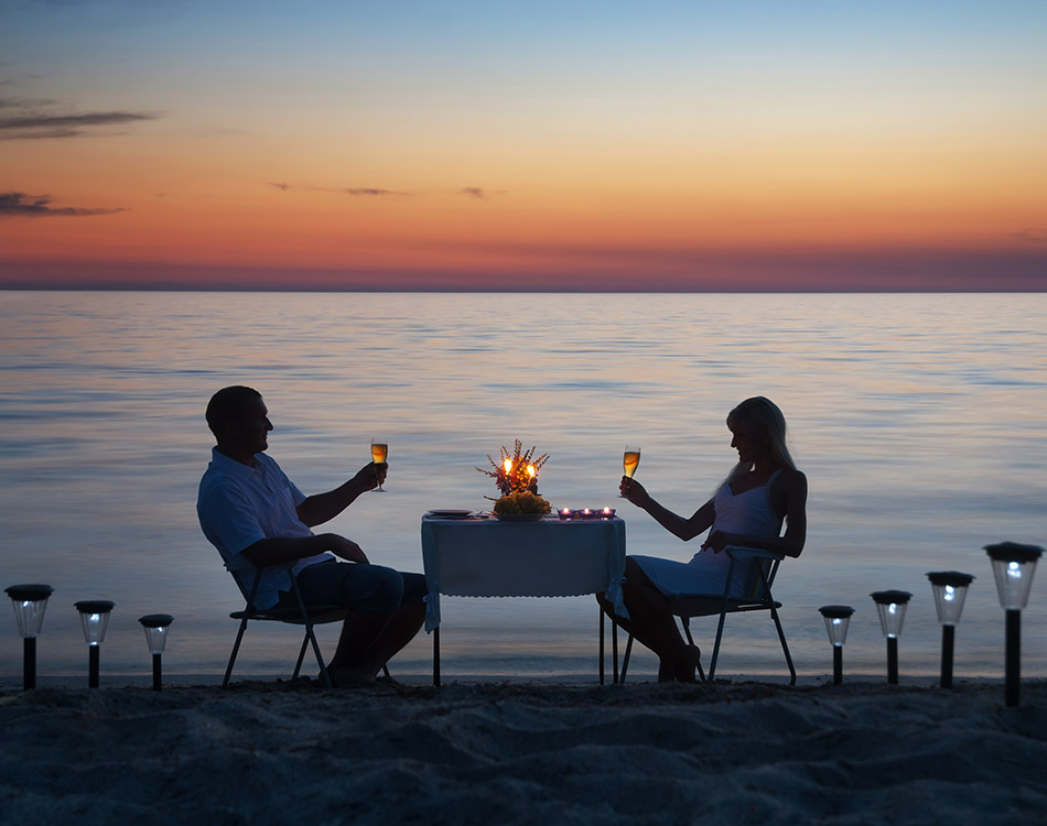 Private Romantic Dining by the Beach