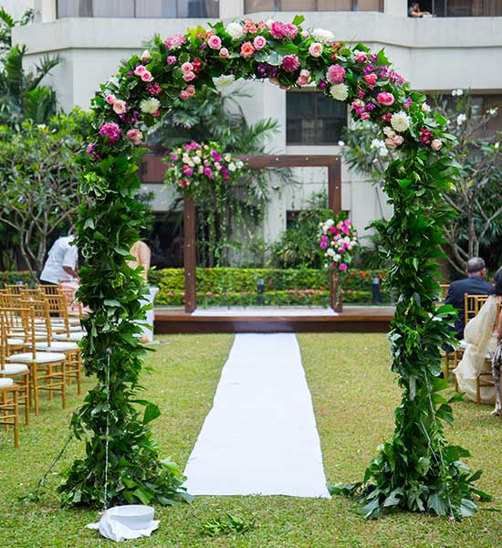 Garden Wedding Setting in Sri Lanka