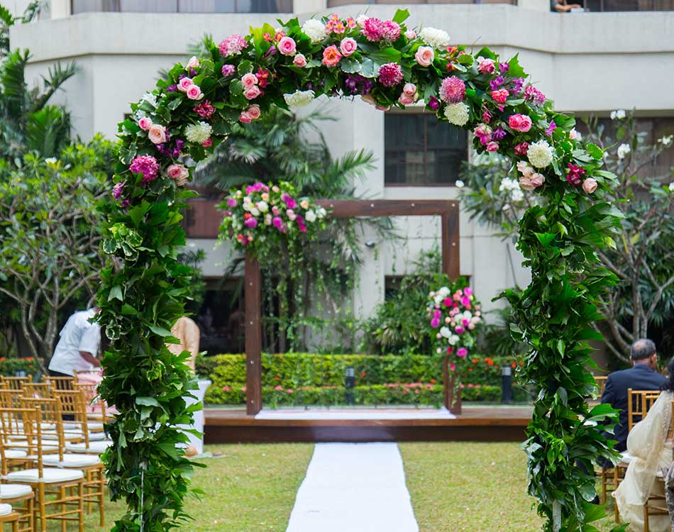 Setting for Garden Wedding in Sri Lanka