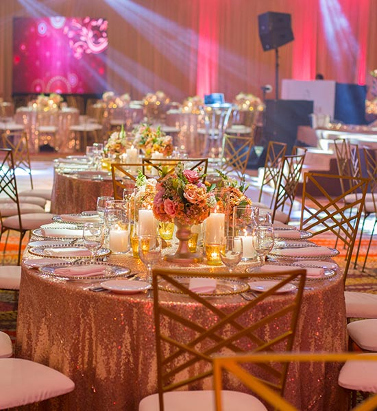 Table Decor at Luxury City Wedding in Sri Lanka