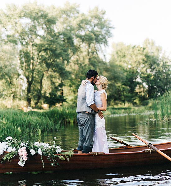 Married Couple on Boat on a Lake