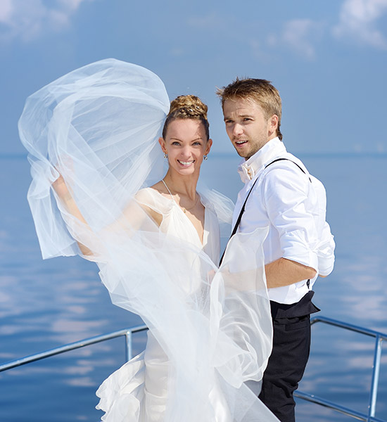 Bridal Couple on Yacht in Sri Lanka